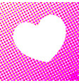 white heart on pink spot abstract vector image