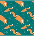 winter fox pattern vector image