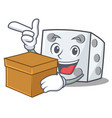 with box dice character cartoon style vector image