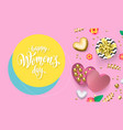 womens day greeting card heart gift box vector image