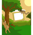 Wood plate with hare vector image