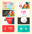 Flat Design Paper Business Card Template - Layout vector image