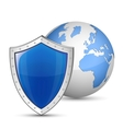globe and shield vector image