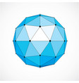 3d digital wireframe spherical object made using