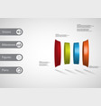 3d infographic template with curved cylinder vector image vector image