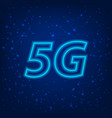 5g standard modern internet transmission vector image vector image