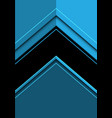 abstract black arrow direction on blue vector image vector image