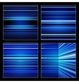 Abstract blue striped colorful backgrounds set vector image vector image