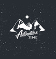 adventure time label vector image vector image