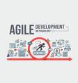 agile development methodology banner vector image