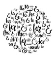 Ampersand and Catchwords vector image vector image