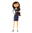 angry unhappy businesswoman thumbs down vector image vector image