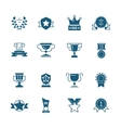 awards prizes and trophy black signs vector image vector image