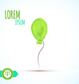 Balloon isolated Watercolor Paint vector image vector image