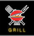 barbeque colored icon vector image vector image