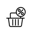 basket bonus icon isolated contour symbol vector image vector image