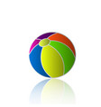 beach ball holiday icon vector image vector image