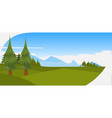 beautiful pine trees green forest mountains vector image