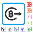 bitcoin cashout framed icon vector image vector image