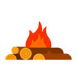 bonfire flat isolated vector image
