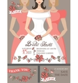 Bridal shower invitation setBridebridesmaids vector image