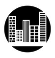 buildings cityscape scene icon vector image vector image