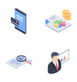 business startup development glyph icons pack vector image vector image