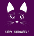 cat head halloween animal illuatration vector image vector image
