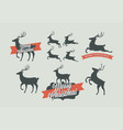 christmas deer signs vector image vector image