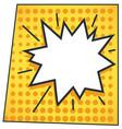 comic book speech bubble burst with copy space vector image