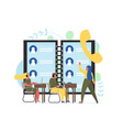 contact center flat style design vector image