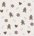 cute christmas seamless pattern with various vector image