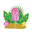 delicious popsicle cartoon vector image vector image