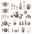 Dinner Restaurant and Eating Icons Set vector image vector image