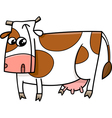 farm cow cartoon vector image vector image
