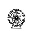 ferris wheel and silhouette circle carnival vector image