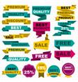 flat colorful sale design elements set vector image