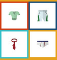flat icon garment set of cravat underclothes vector image vector image