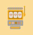 flat icon on background slot machine vector image vector image