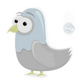 funny dove character on a white background vector image