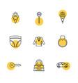 garments cloths wear dress eps icons set vector image