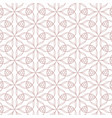 geometric contour pattern on white background vector image vector image