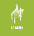 go green eco poster concept save forest vector image vector image