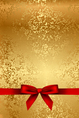 gold texture with red bow vector image vector image