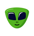 green stranger smiling alien life ufo space vector image