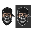 guy in the bandana with a skull pattern vector image vector image
