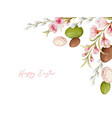 happy easter watercolor hand painted wreaht vector image vector image