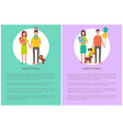 happy family poster togetherness and love concept vector image vector image