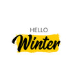 hello winter typography type text font vector image