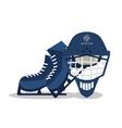 Ice skate helmet and winter sport design vector image vector image